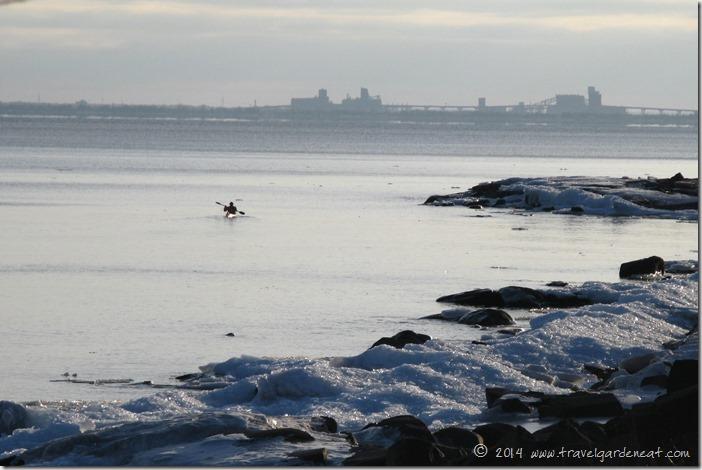 Kayaker on Lake Superior
