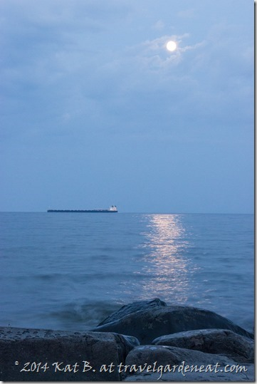 Full moon over Lake Superior