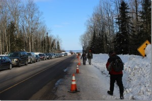 Meyers Beach Road ~ Parking at Apostle Islands Ice Caves