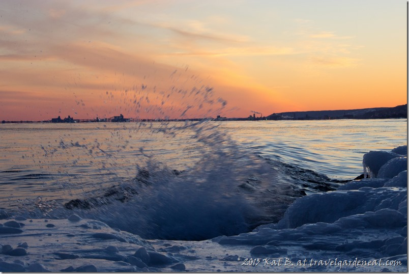 Sunset Splash ~ Duluth, Minnesota (Lake Superior)