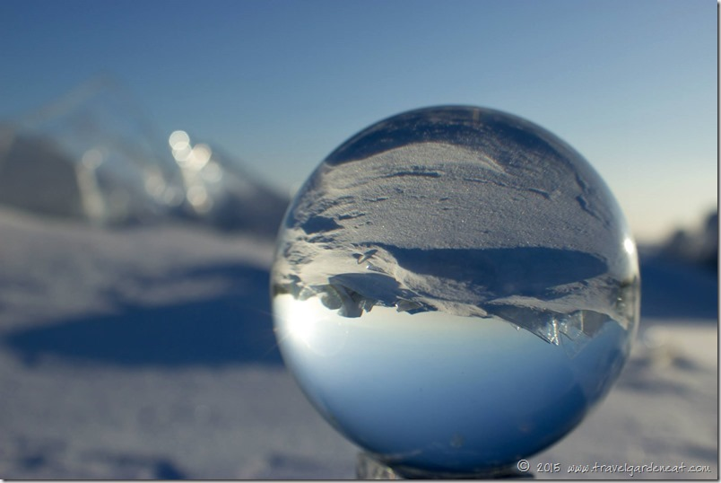 Ice of Lake Superior through the crystal ball