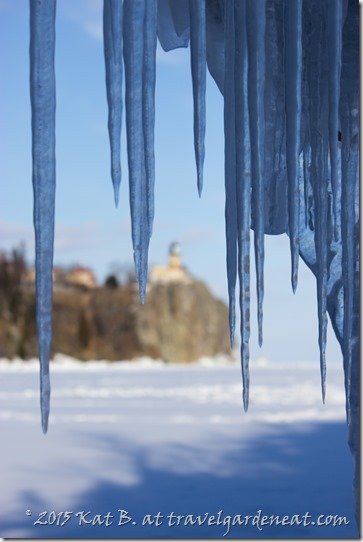 Split Rock Framed by Icicles