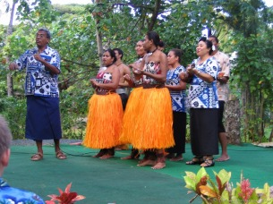 Punch of orange at the Polynesian Cultural Center