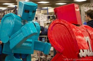 Battling bot mascot