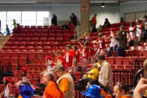 Conga line in the stands