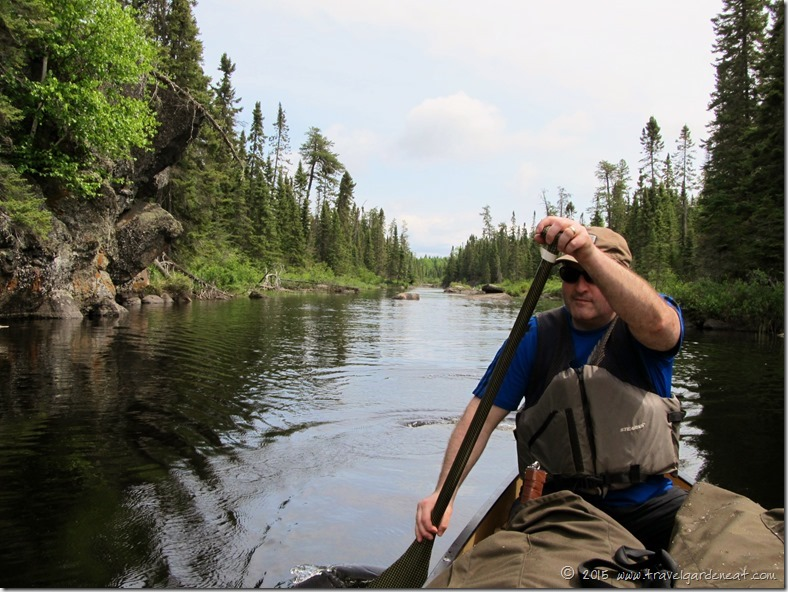 Paddling through the BWCA