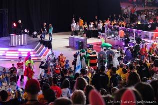 Mascot dance at Worlds