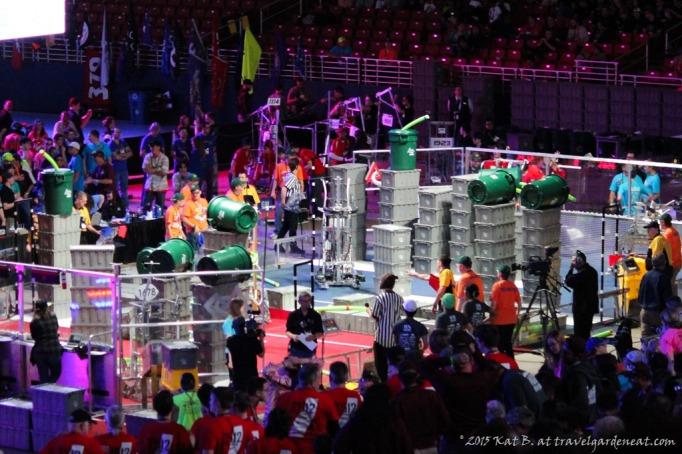 The Einstein field at the FRC World Championships.