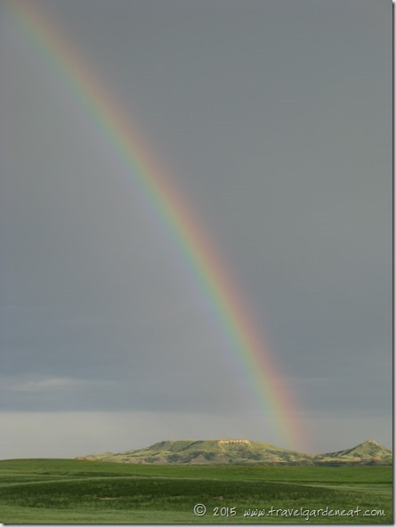 Butte Rainbow near Theodore Roosevelt National Park, North Dakota