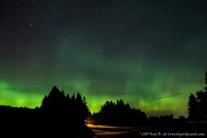 Aurora Borealis outside of Duluth, Minnesota