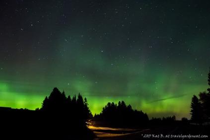 Aurora Borealis outside of Duluth, Minnesota