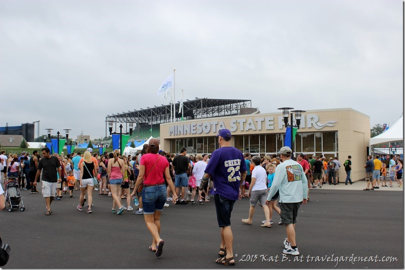 Entrance to the MN State Fair from the public transit parking lot