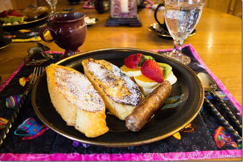 French toast breakfast at Abe's Spring Street Guest House