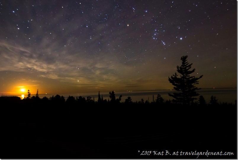 Moonrise on a Starry Night on Lake Superior