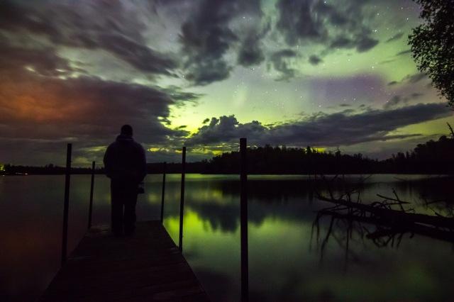 Evanescent Northern Lights