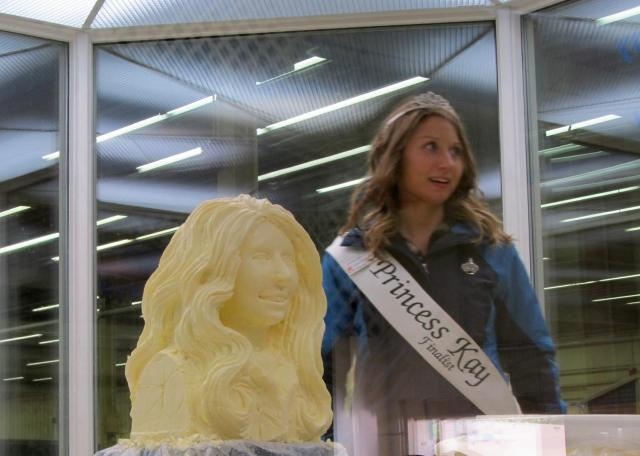 Butter head carvings of Princess Kay and her Court at the Minnesota State Fair