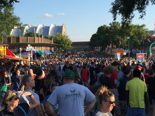 Minnesota State Fair crowds