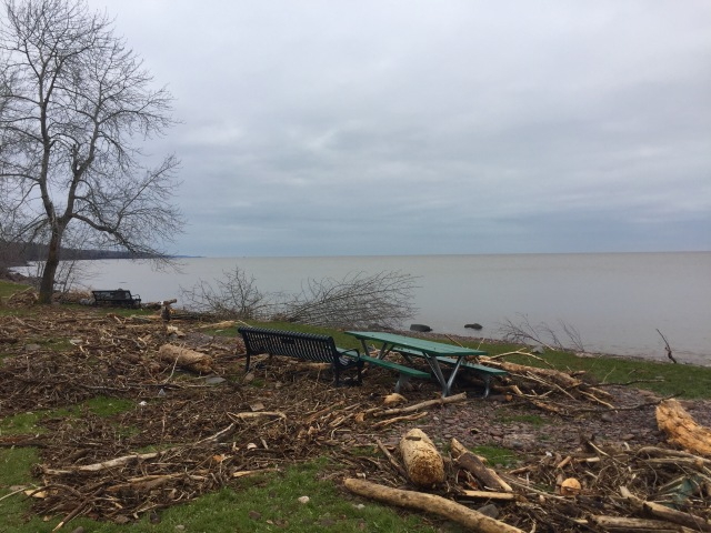 Lake Superior redecorates Brighton Beach after t