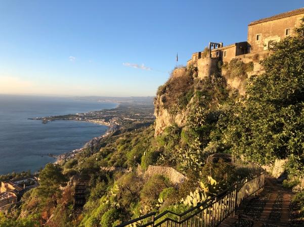 Madonna della Rocca high above Taormina