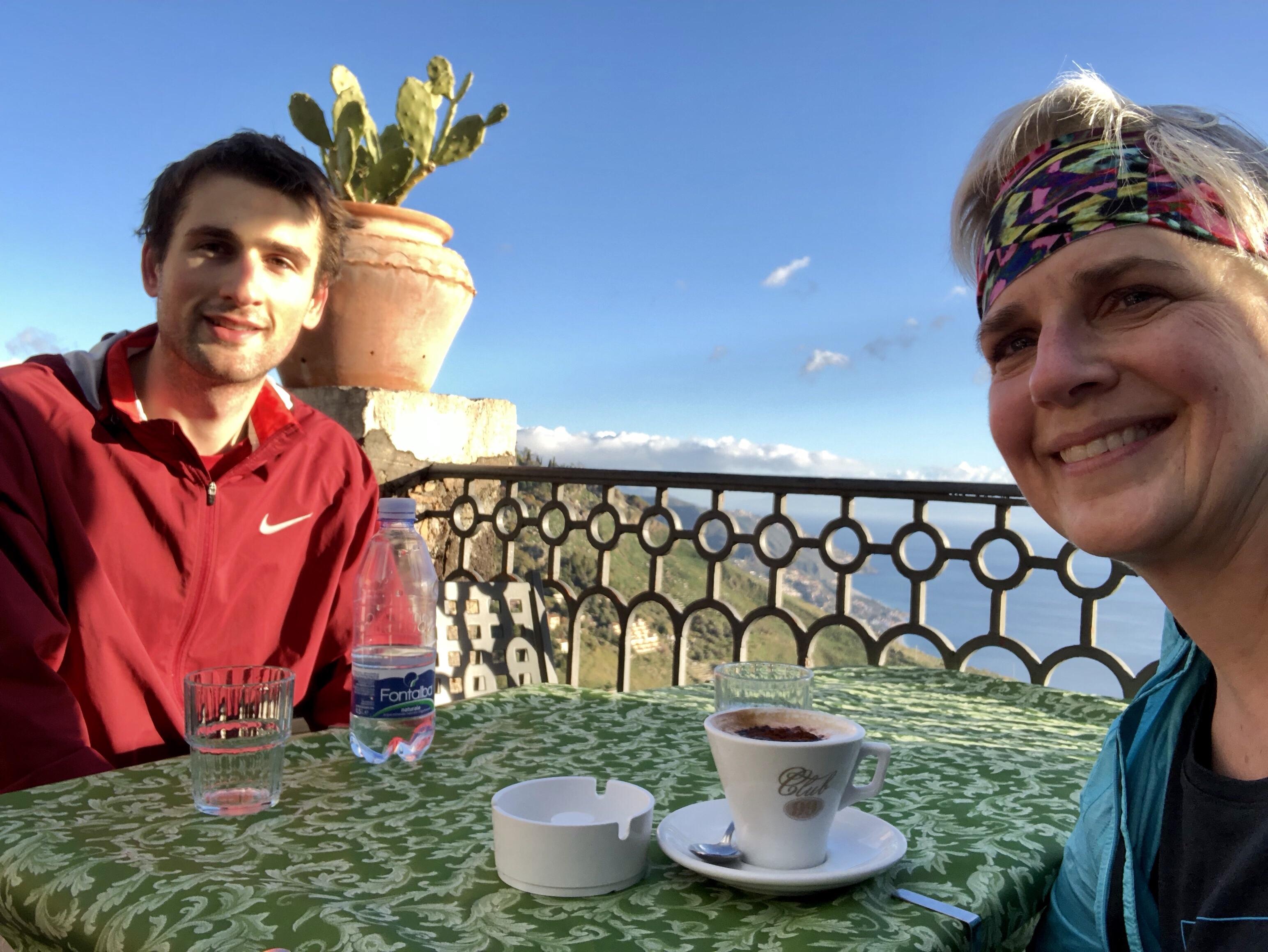 Mountaintop dining at Caffe Bar San Giorgio, Castelmola