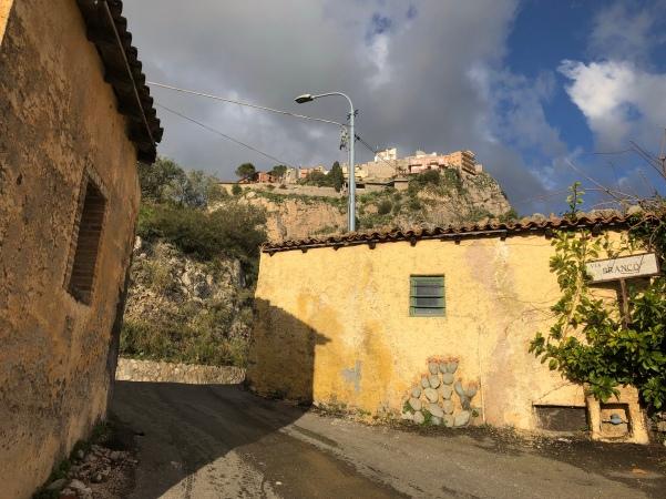Returning to Taormina from Castelmola on Via Branco