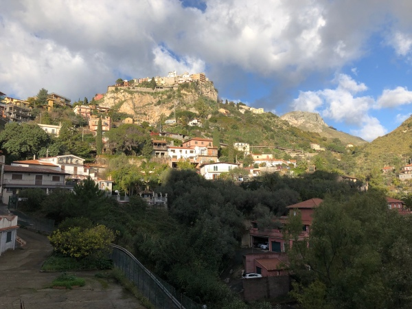 Mountaintop Castelmola viewed from Salita Branco