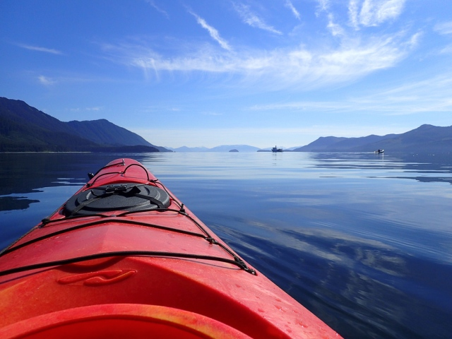 Kayaking in the Peril Strait of Alaska