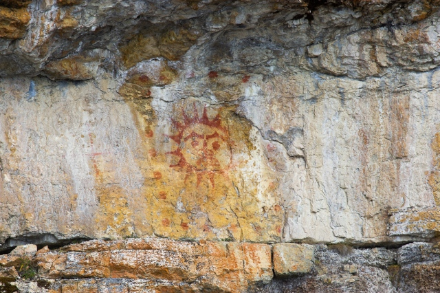 Pictograph in Alaska's Inside Passage