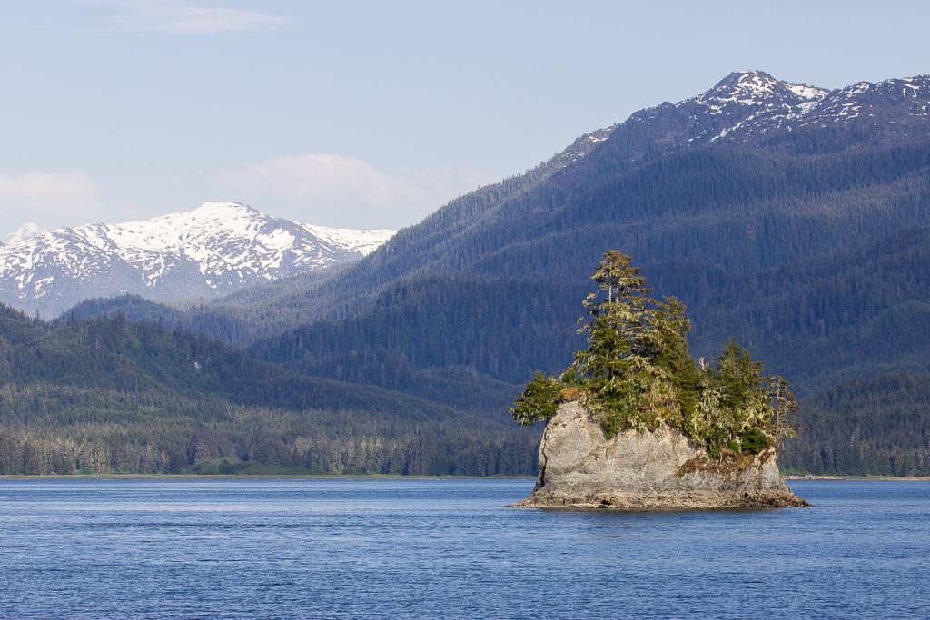 Scenic views from Frederick Sound, near Hobart Bay, Alaska