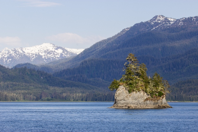 Scenic views from Frederick Sound, near Hobart Bay, Alaska