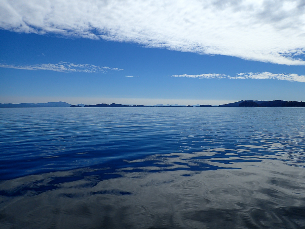 Traveling through Frederick Sound in Alaska's Inside Passage