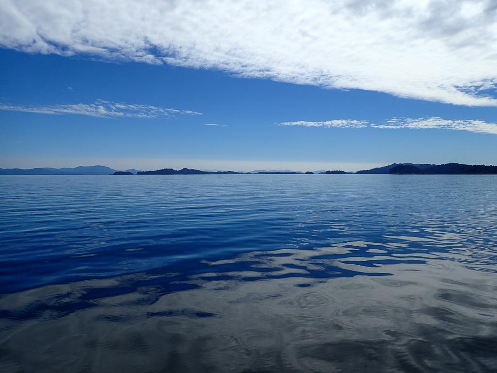 Traveling through Frederick Sound in Alaska's Inside Passage